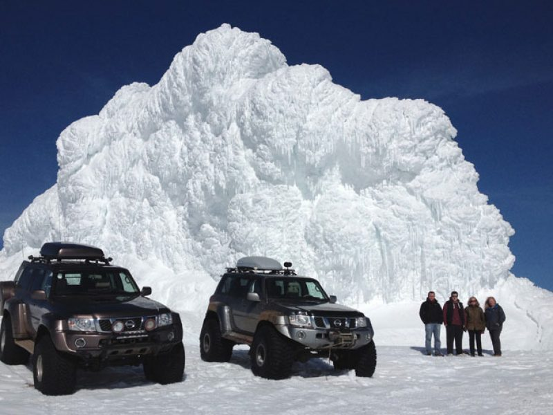 iceland superjeep excursion on glacier with group