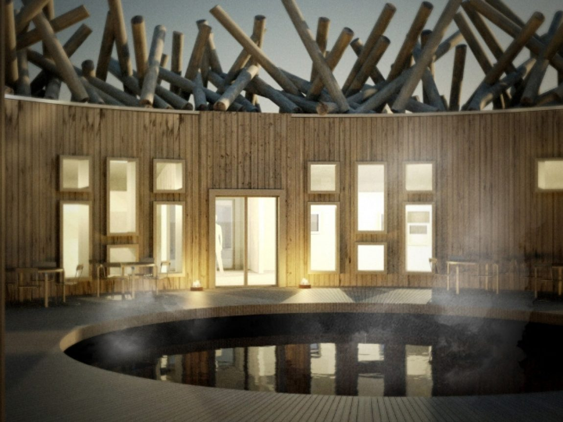 sweden arctic bath hotel pool interior