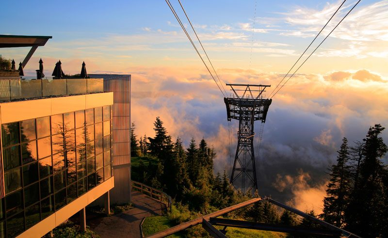 grouse mountain view british columbia canada