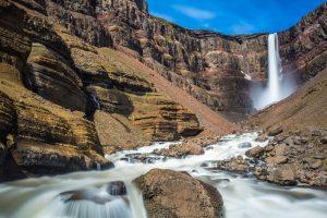 iceland east hengifoss waterfall