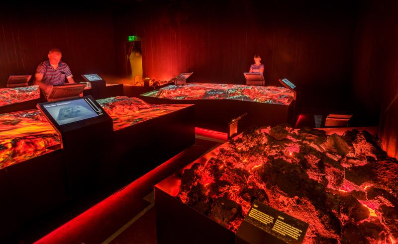 iceland lava centre interactive exhibit