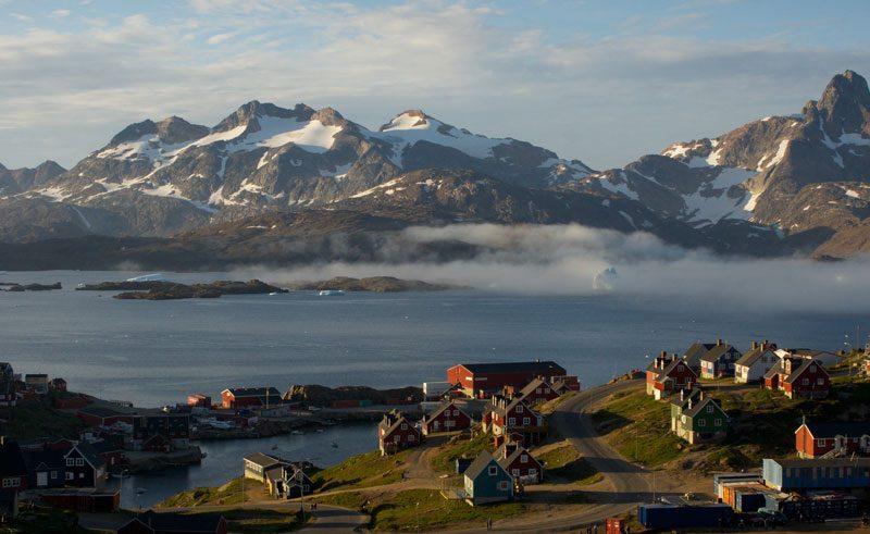 greenland kong oskars havn fjord