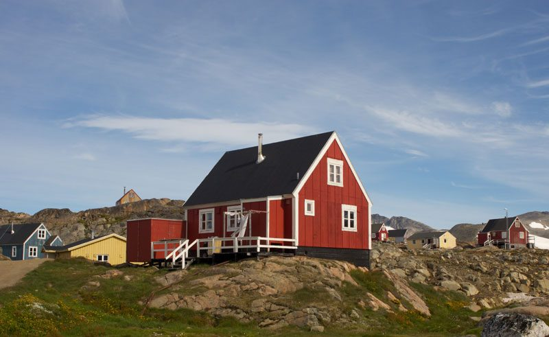 greenland red building
