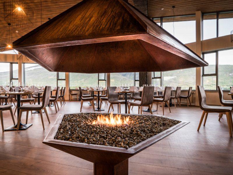 husafell restaurant fire pit