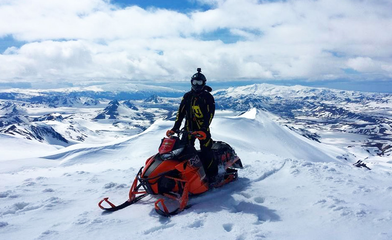 iceland south west snowmobiling on eyjafjallajokull south coast ad