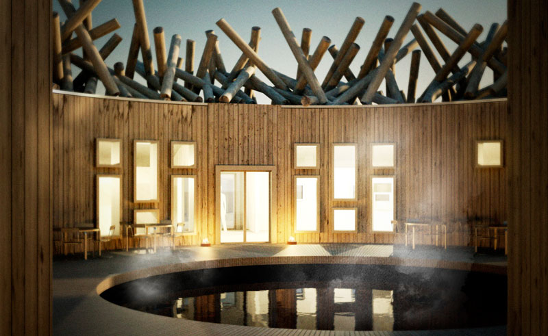sweden arctic bath patio