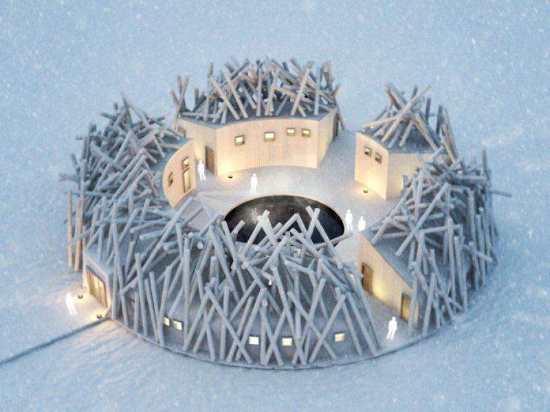 sweden arctic bath winter top