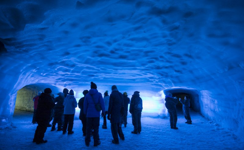 discover the world escorted holiday group into the glacier iceland