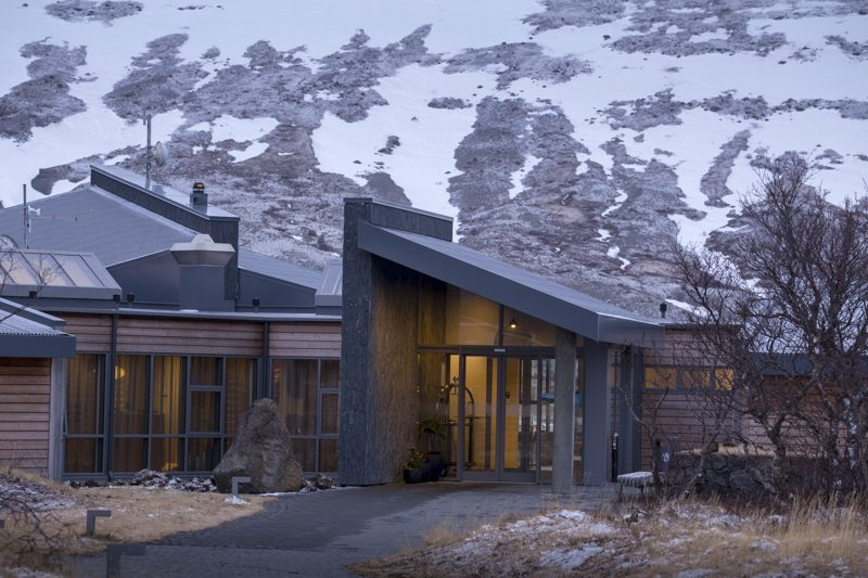 hotel husafell in winter iceland
