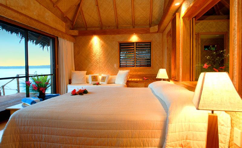 aitutaki lagoon resort and spa bungalow interior
