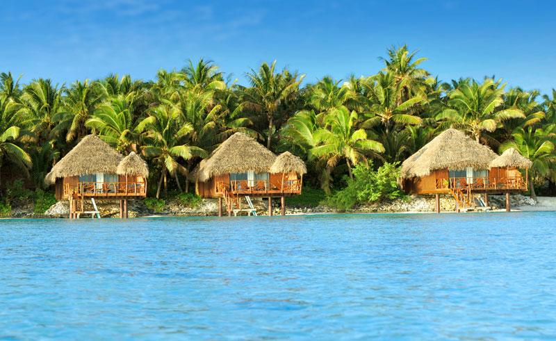 aitutaki lagoon resort and spa overwater bungalows