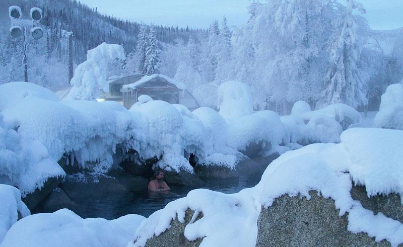 alaska chena hot spring january