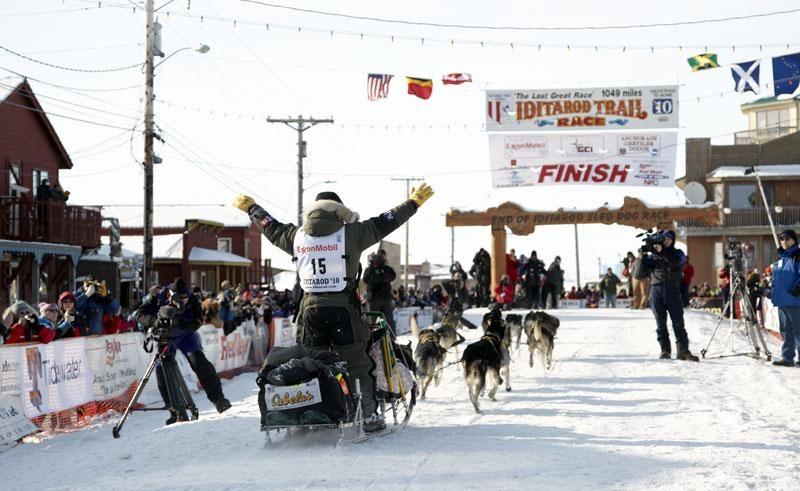 alaska iditarod finish line cm