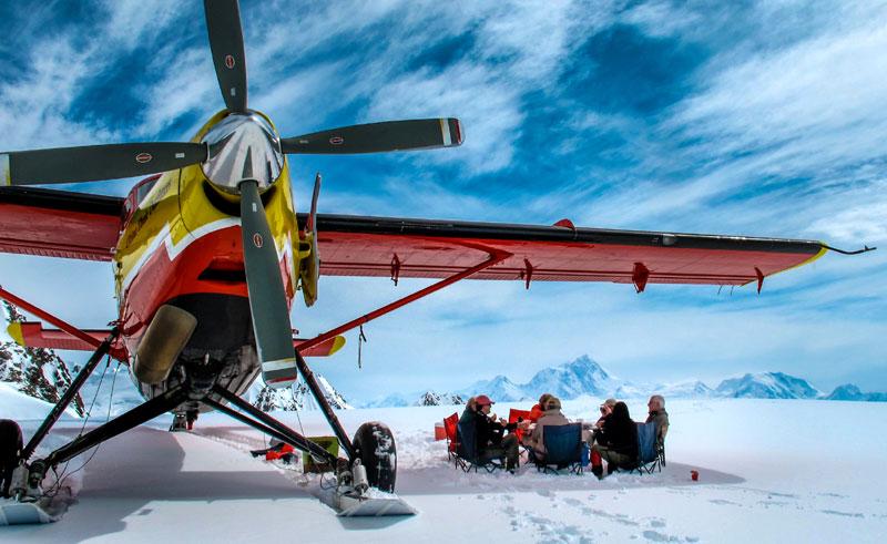 alaska ultima thule lodge glacier landing lunch