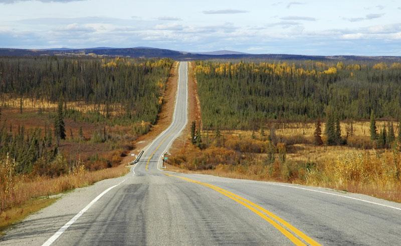 alaskan highway near istock