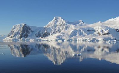 antarctica mountain ice reflection jc