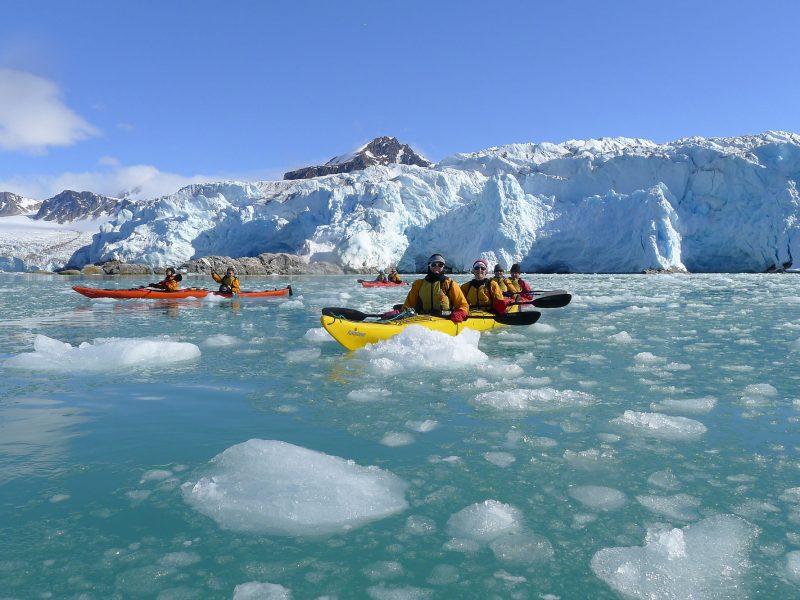 arctic spitsbergen kayaking excursion ae