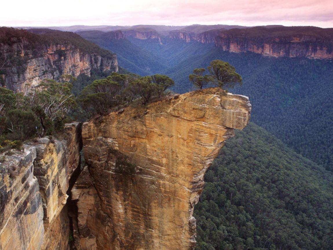 australia nsw blue mountains viewpoint ta