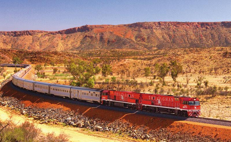 australia nt the ghan train outback