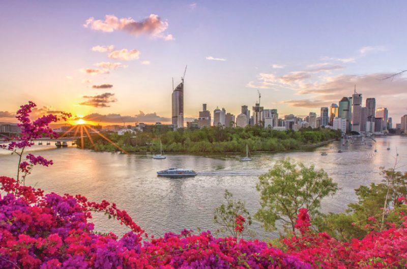 australia queensland brisbane skyline