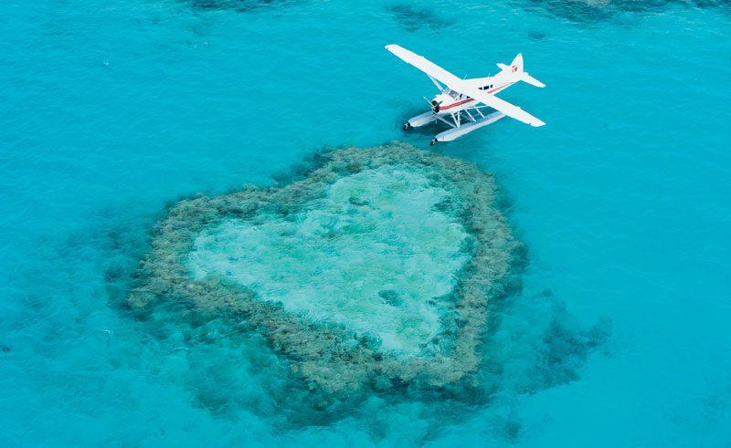 australia queensland whitsundays heart reef floatplane ta