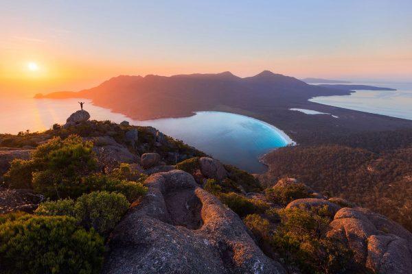 australia tasmania wineglass bay sunset ttas