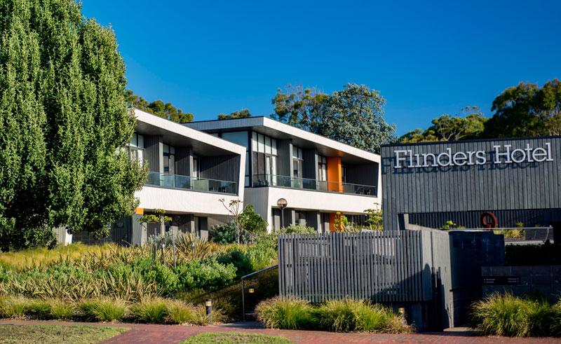 australia victoria flinders hotel exterior