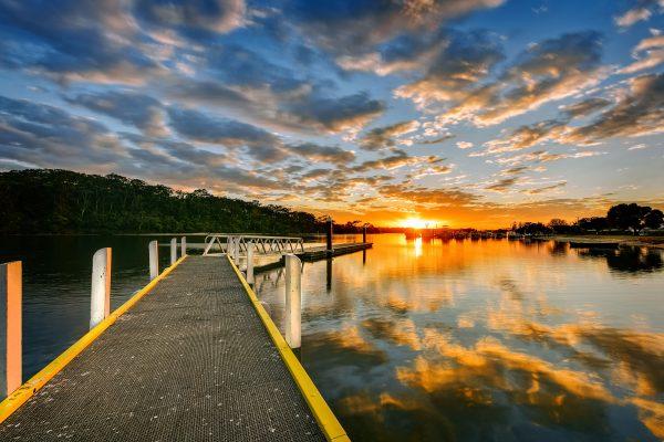 australia victoria lakes jetty istk