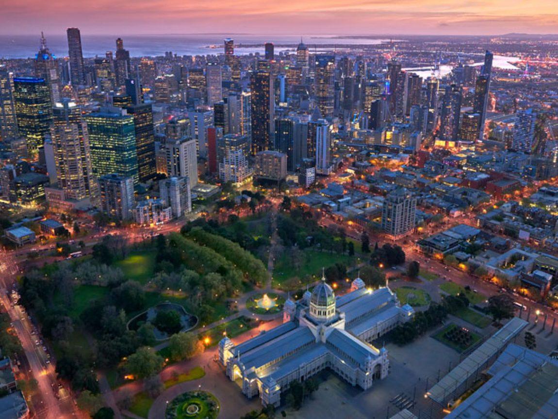 australia victoria melbourne city aerial view ta