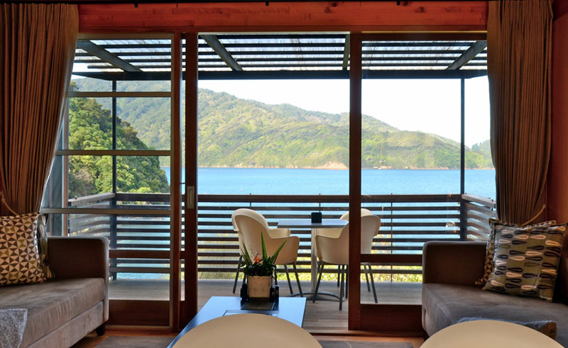 bay of many coves bedroom view