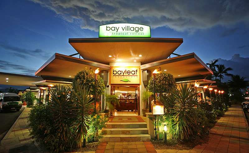 bay village tropical retreat entrance