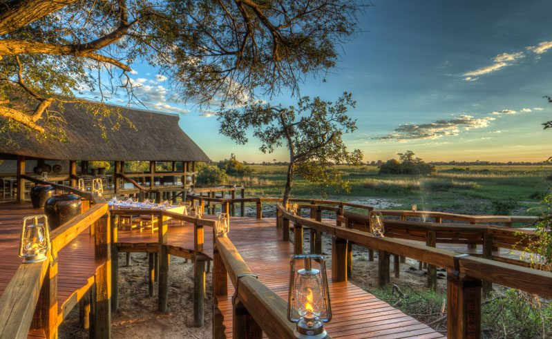 camp okavango deck