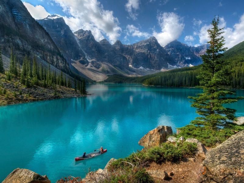 canada alberta banff moraine lake istk