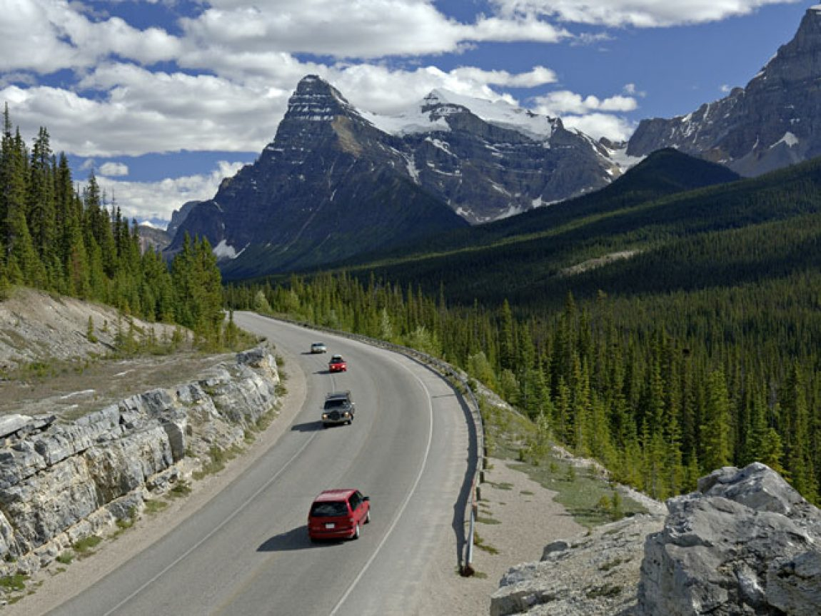 canada alberta icefields parkway scenic drive ta