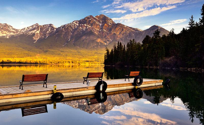 canada alberta pyramid lake istk