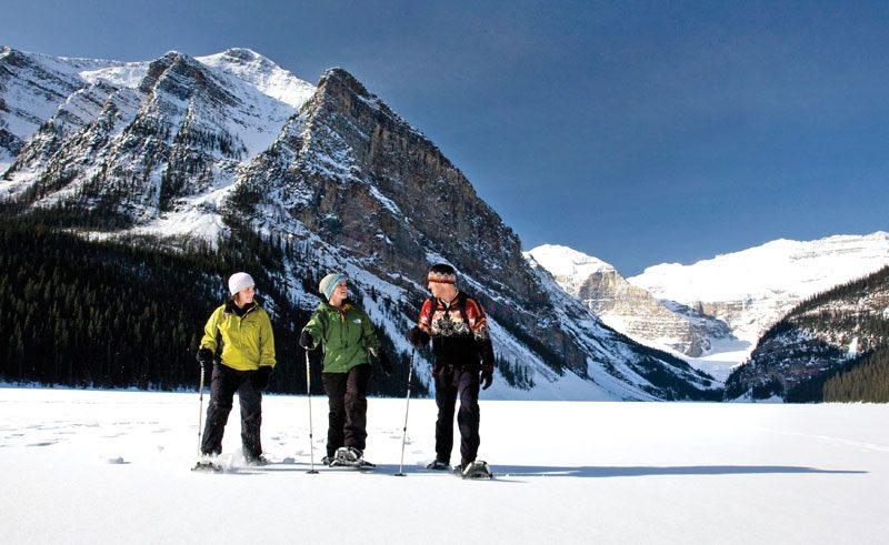 canada alberta snowshoeing winter ctc