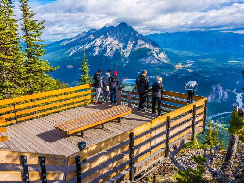 Views over Banff from Sulphur Mountain