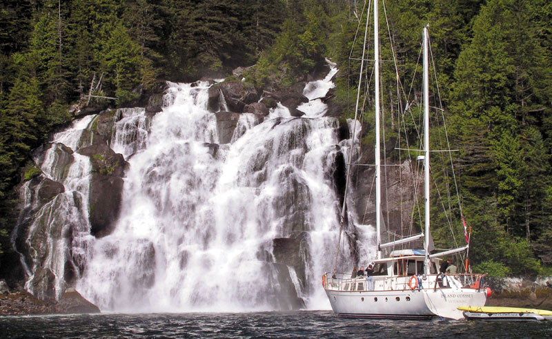 canada bc great bear rainforest odyssey waterfall bct