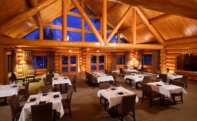 canada bc tyax lodge dining room