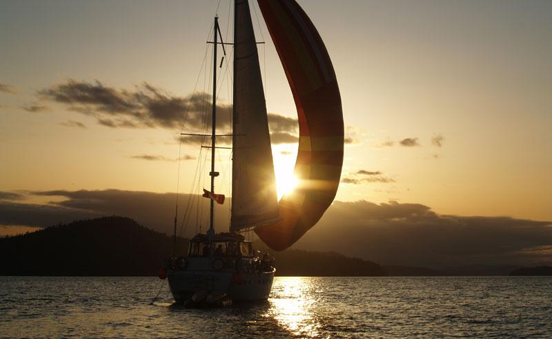 canada british columbia haida gwaii islands sailing sunset ba