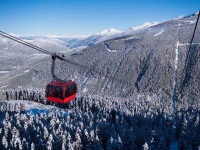 canada british columbia whistler gondola winter istk
