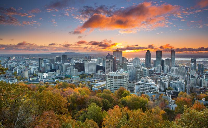 canada montreal cityscape dq
