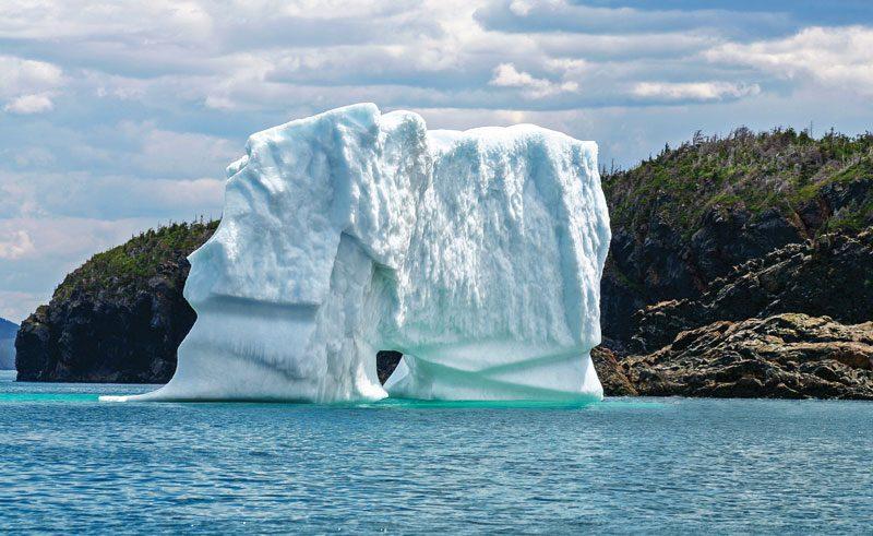 canada newfoundland and labrador iceberg near triton island green bay