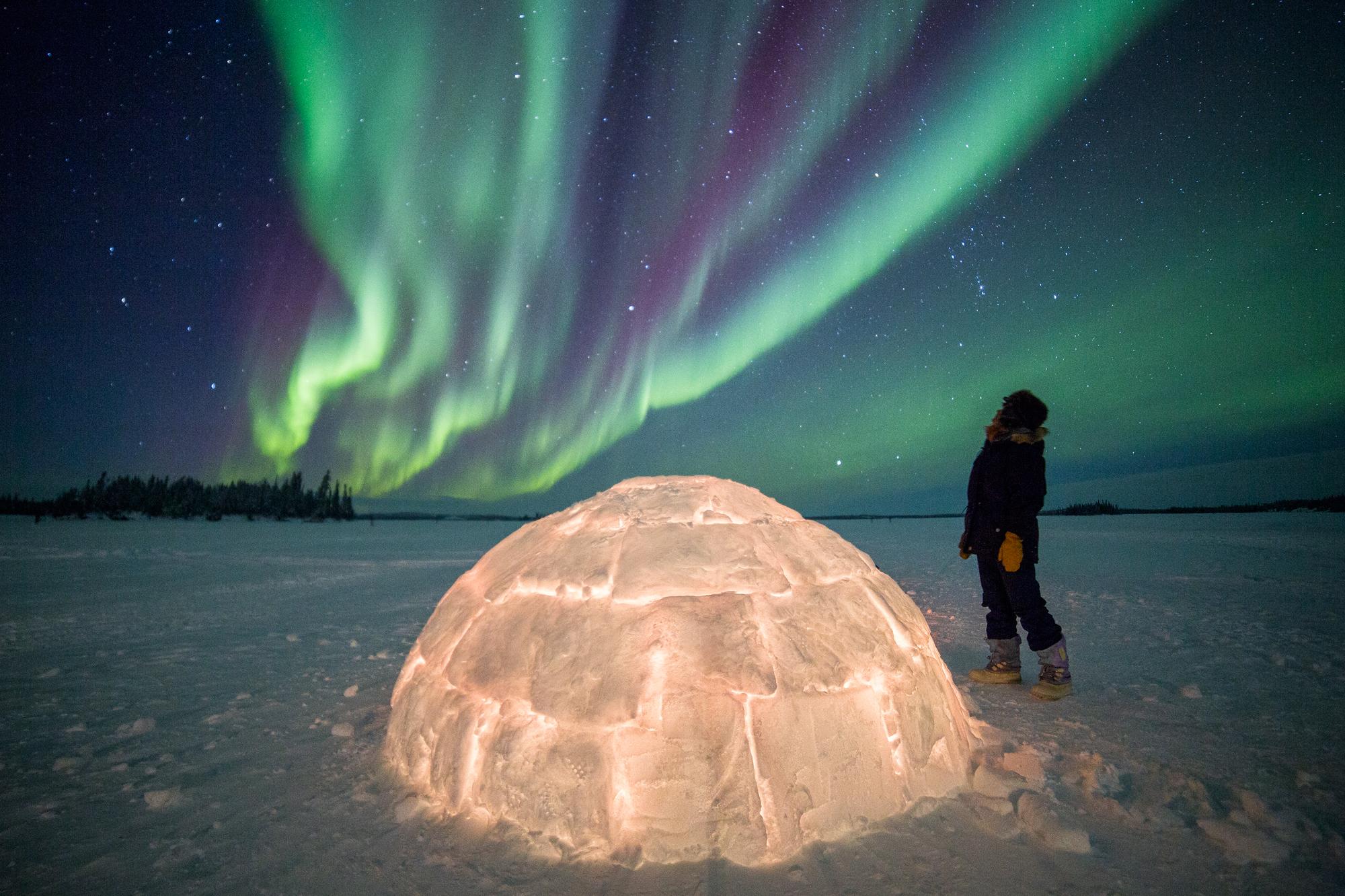 canada northwest territories aurora blachford lake lodge