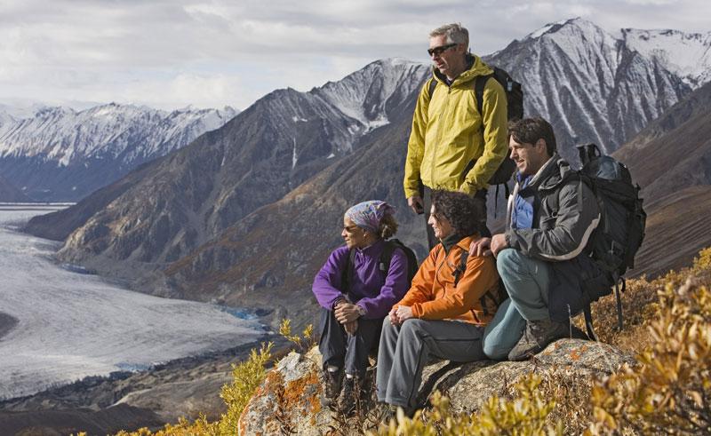 canada yukon kluane national park hikers ty