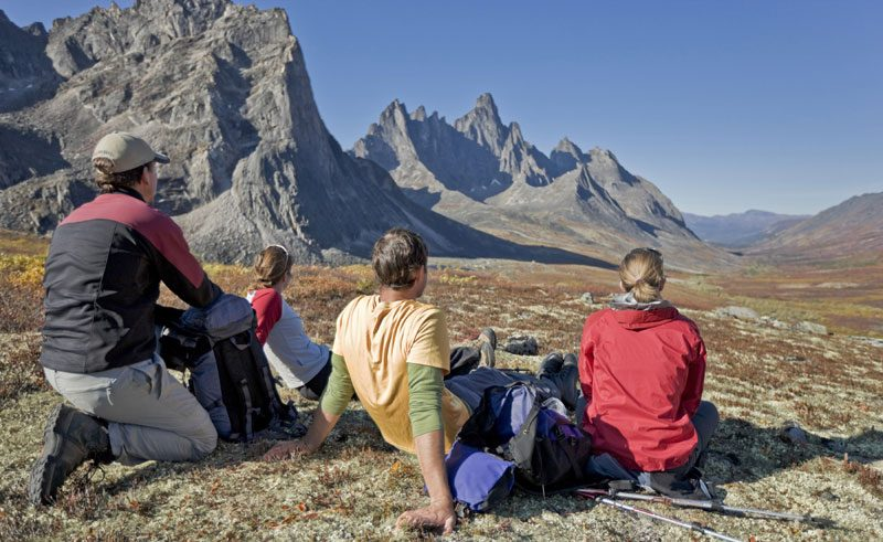 canada yukon tombstone territorial park hikers rest ty