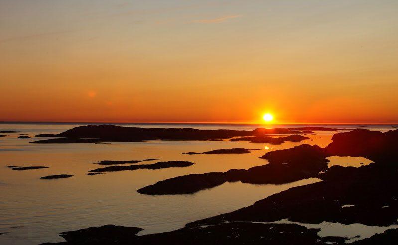 canadian arctic nunavik east coast sunset tb