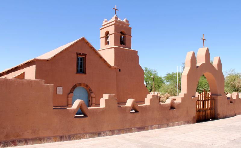 chile atacama church of san pedro de atacama is