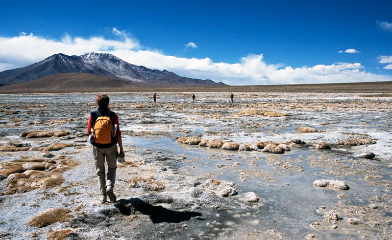 chile atacama hiking salt lake is
