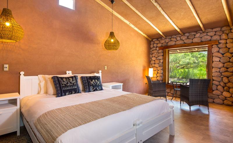 chile atacama hotel altiplanico bedroom wall cscda